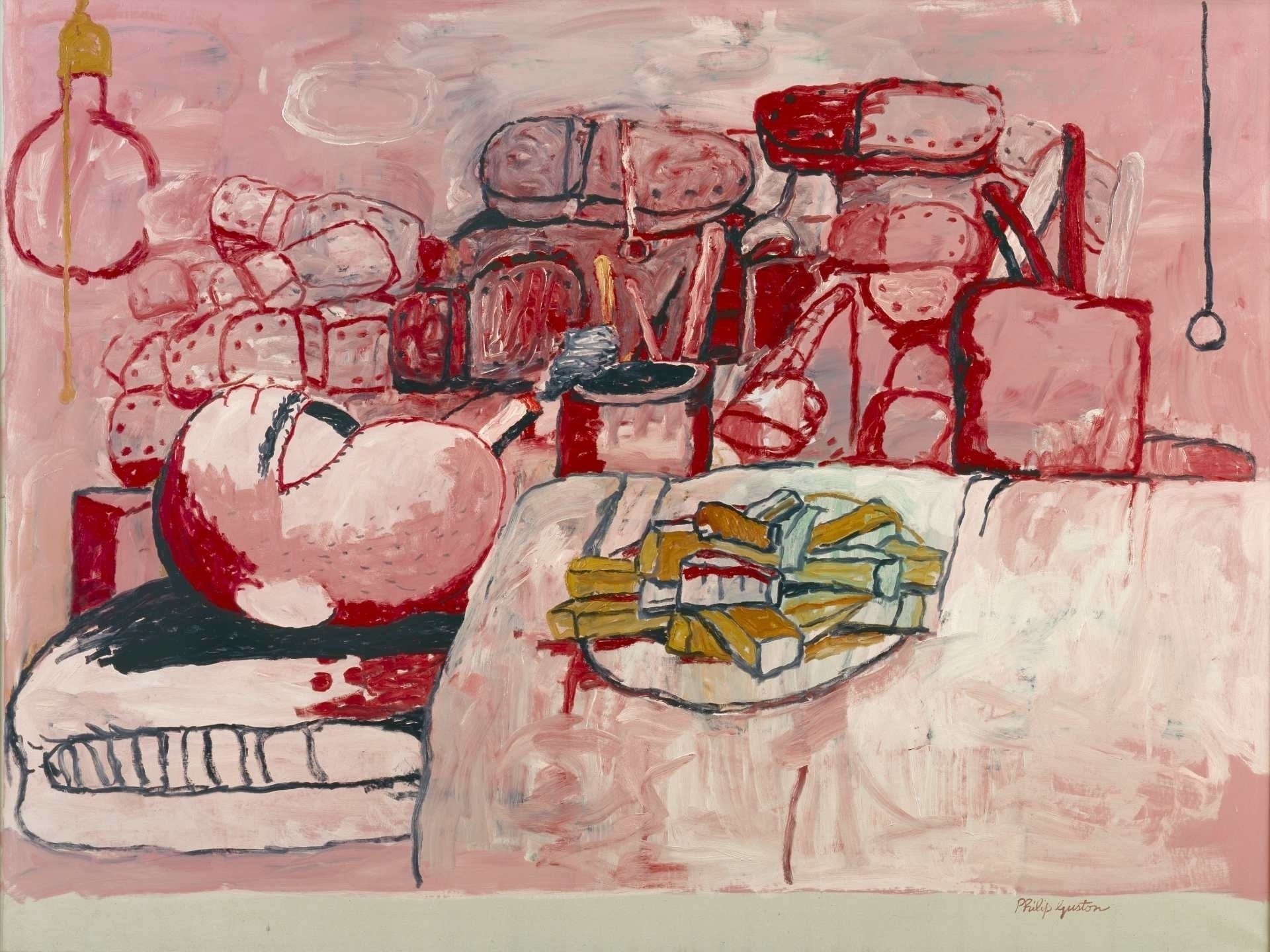 Guston Painting Smoking Eating